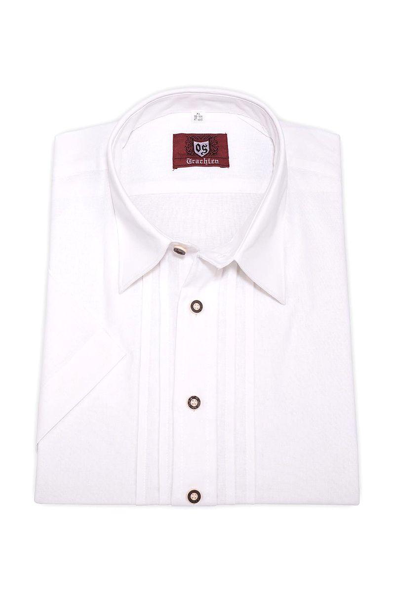 Trachtenhemd kurzarm weiß 111065