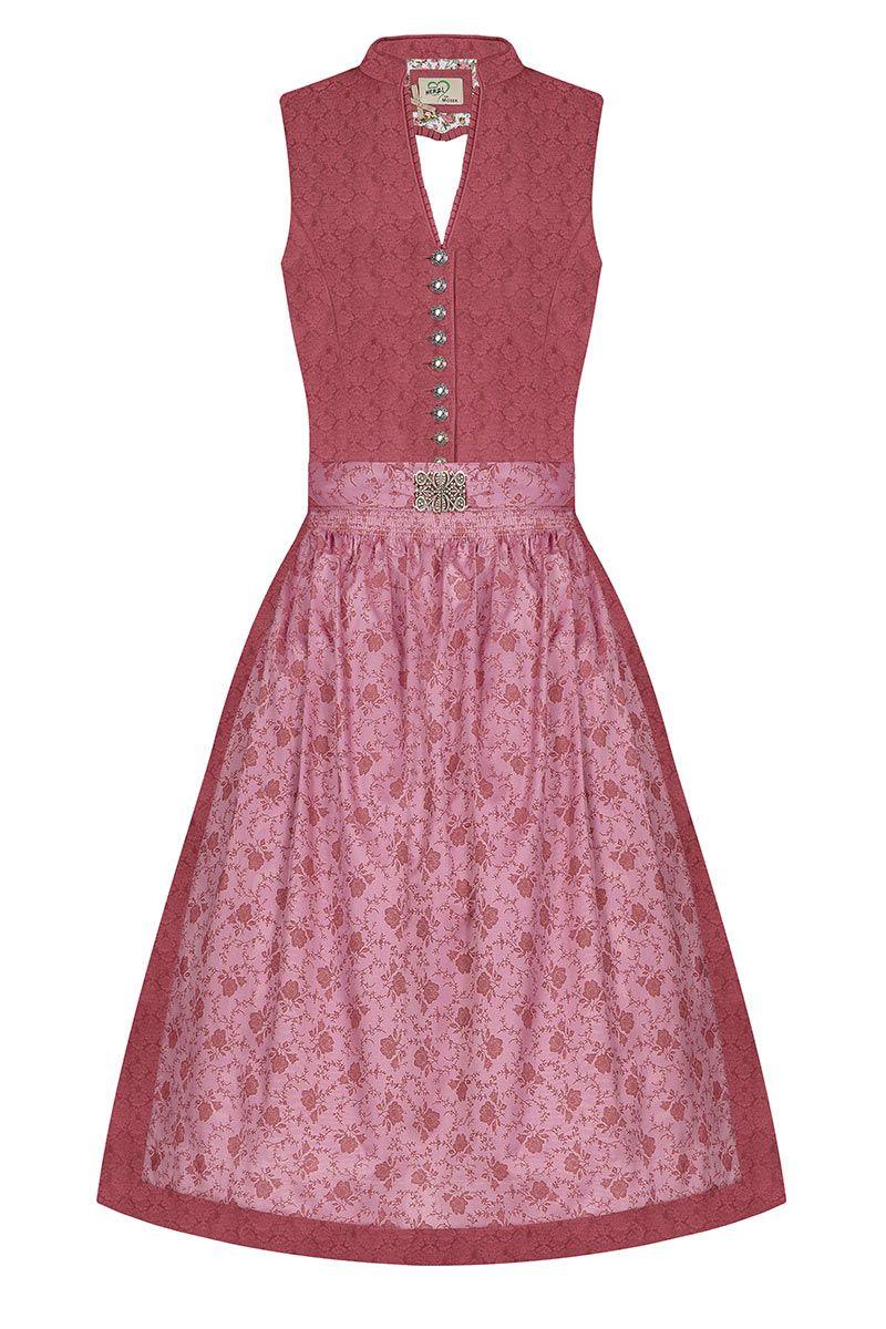 Midi Dirndl 65cm rosenholz rosa Fiona 006594 - limitiert
