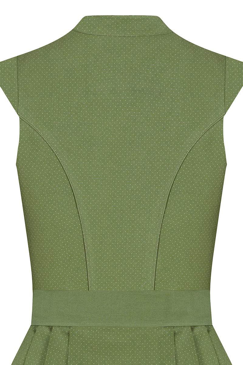 65cm Rockl/änge: ca Lieblingsgwand Moser Trachten Baumwolle Midi Dirndl 65er gr/ün gepunktet Creme Beverly 006530 mit Knopfleiste