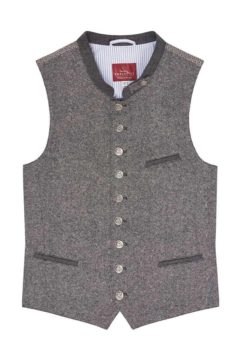 Trachtenweste grau hellgrau Vinzent 008811