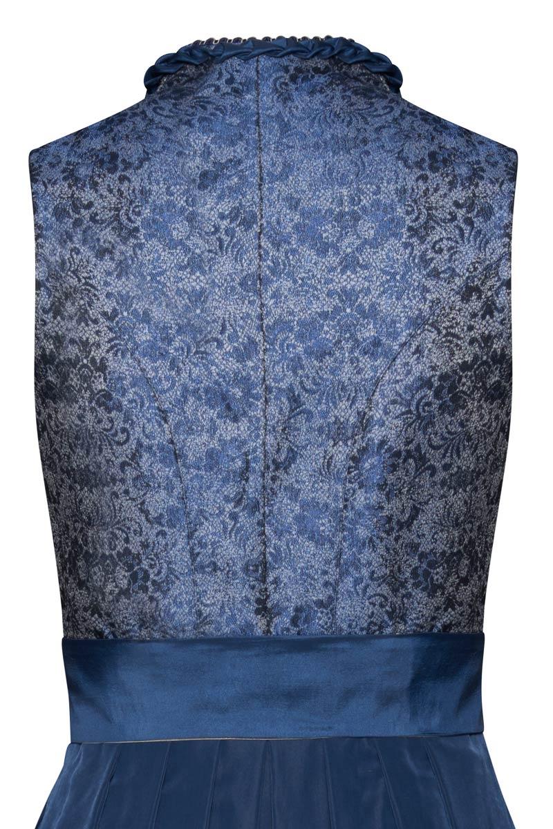 Dirndl lang 85 cm blau silber Leyla 008900