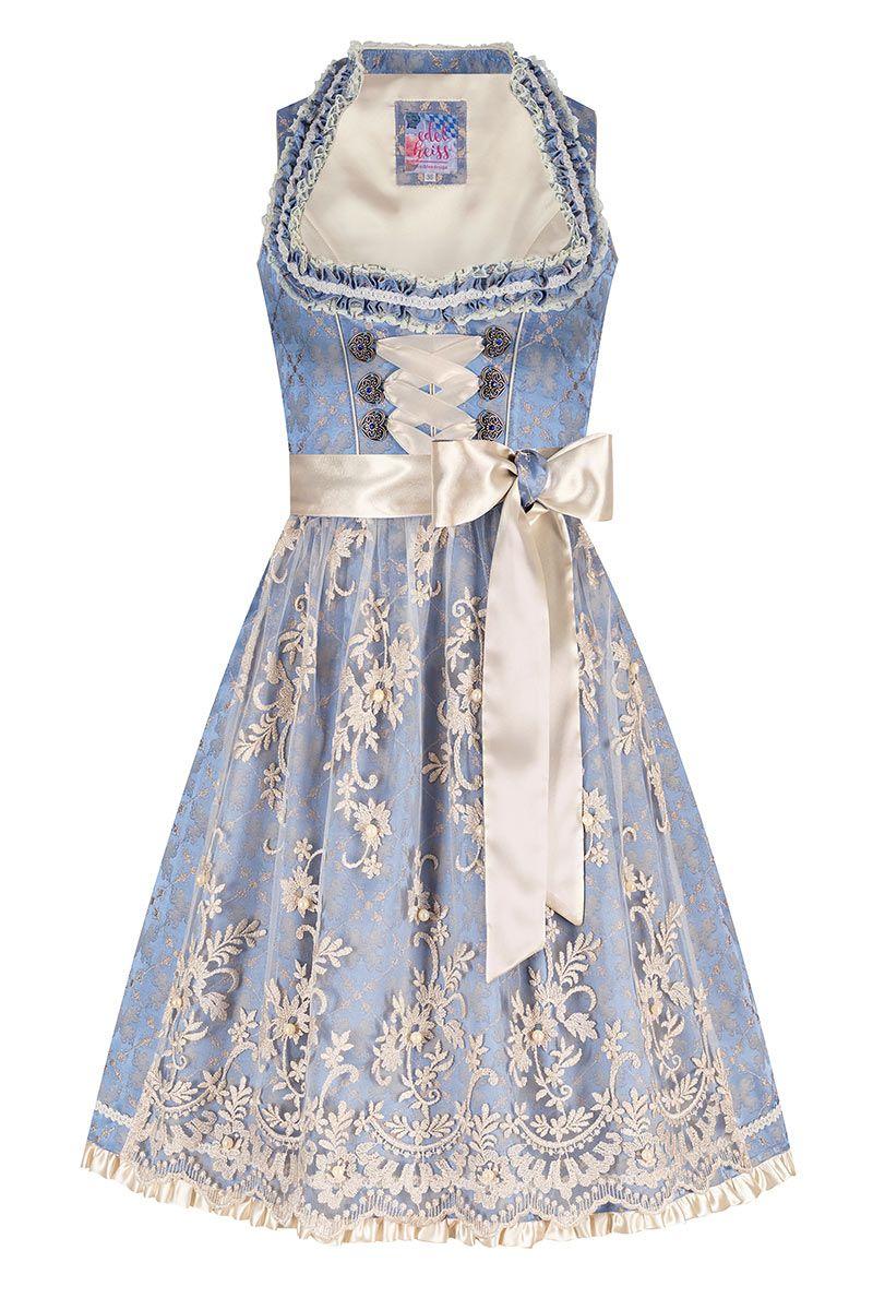 Mini Dirndl 60 cm hellblau creme Lilly 007800